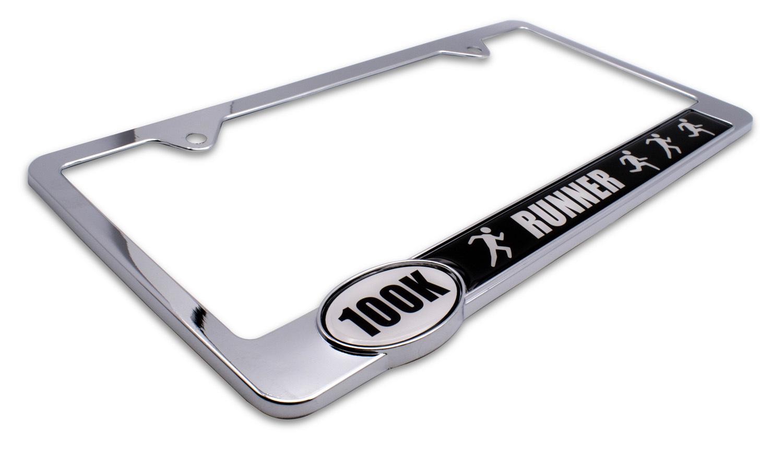 Ultra Marathon 100 K Runners License Plate Frame