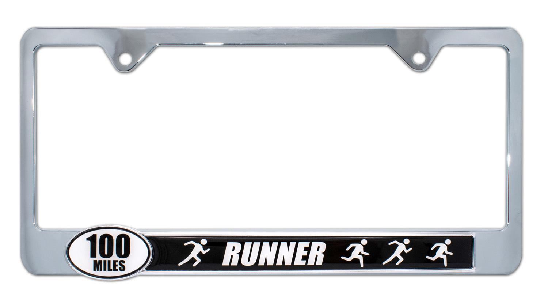 Ultra Marathon 100 Miles Runners License Plate Frame