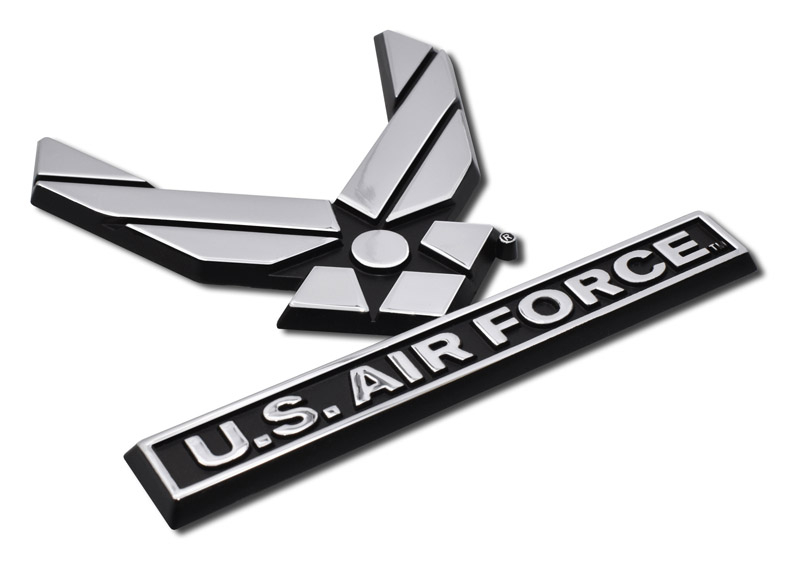 Glossy Black License Plate Frame RETIRED AIR FORCE Auto Accessory