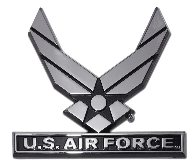 Us Air Force Wings Chrome Auto Emblem Elektroplate