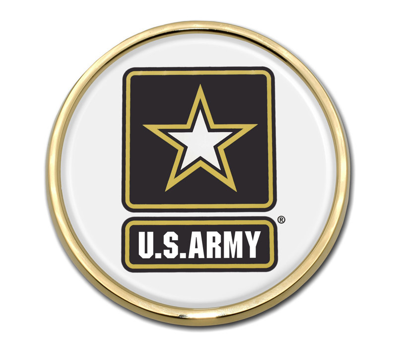 Army Seal Shield Chrome Metal Auto Emblem U.S