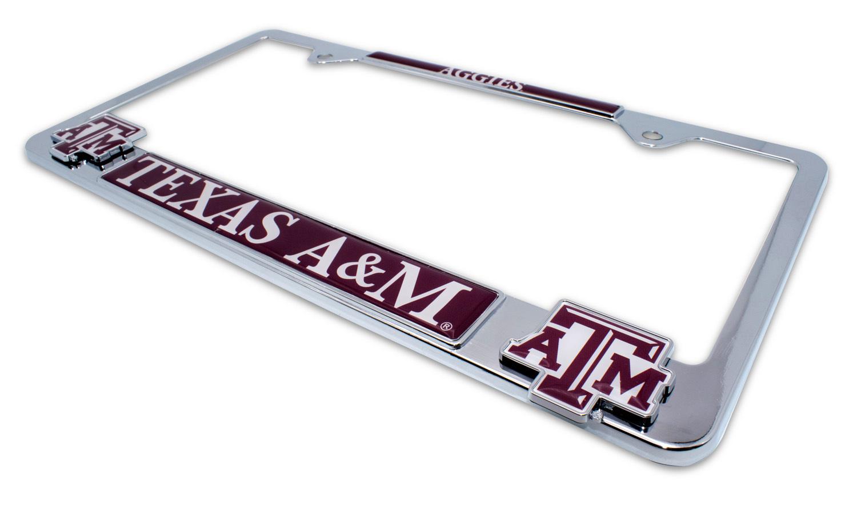 Texas A/&M Aggies Metal License Plate Frame