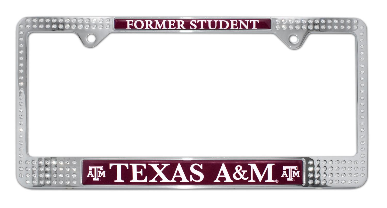 Texas Am Alumni Crystal License Plate Frame Elektroplate