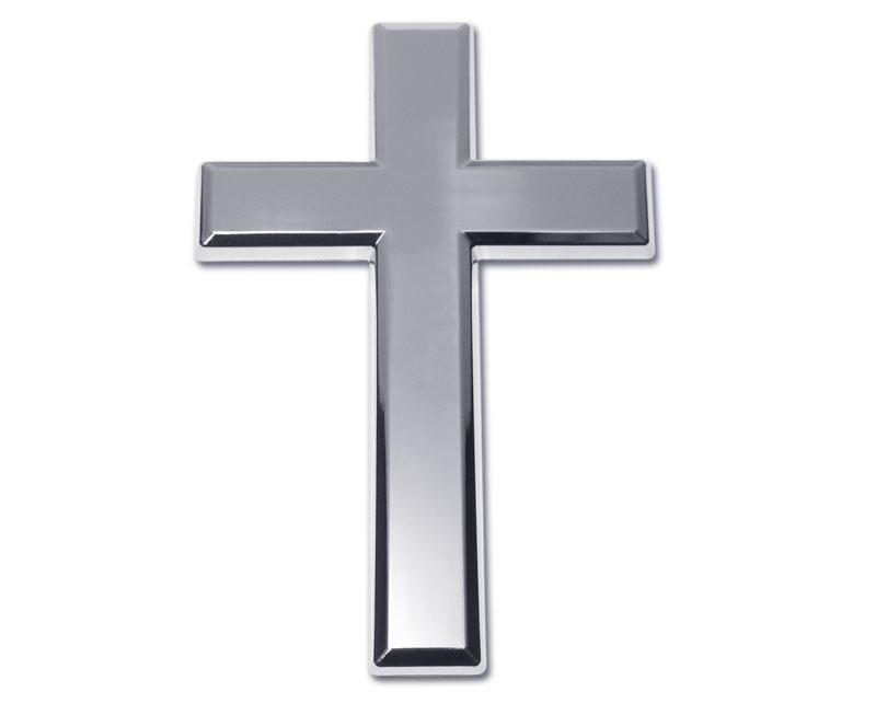 Cross Chrome Emblem Elektroplate