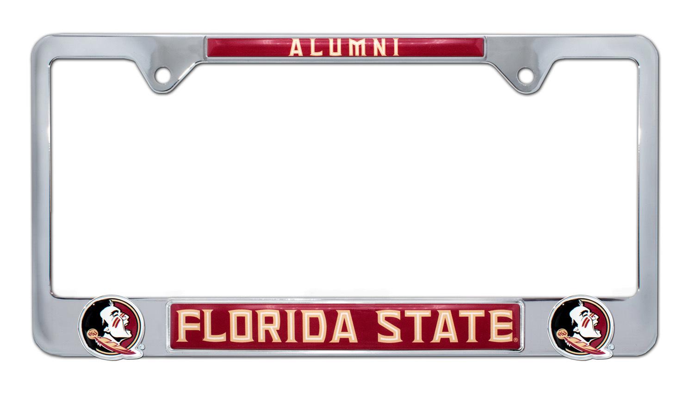 Florida state alumni 3d license plate frame elektroplate for Florida 3 day fishing license