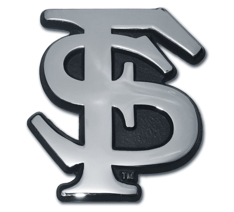 Florida State Chrome Emblem Elektroplate