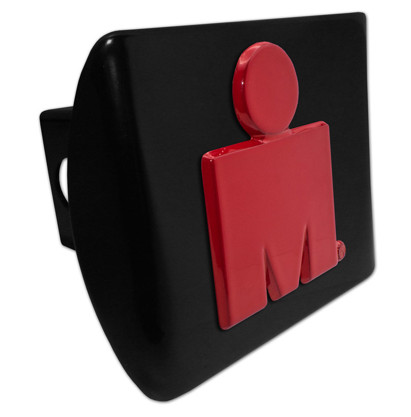 Elektroplate Ironman Triathlon Red and Black Metal Hitch Cover
