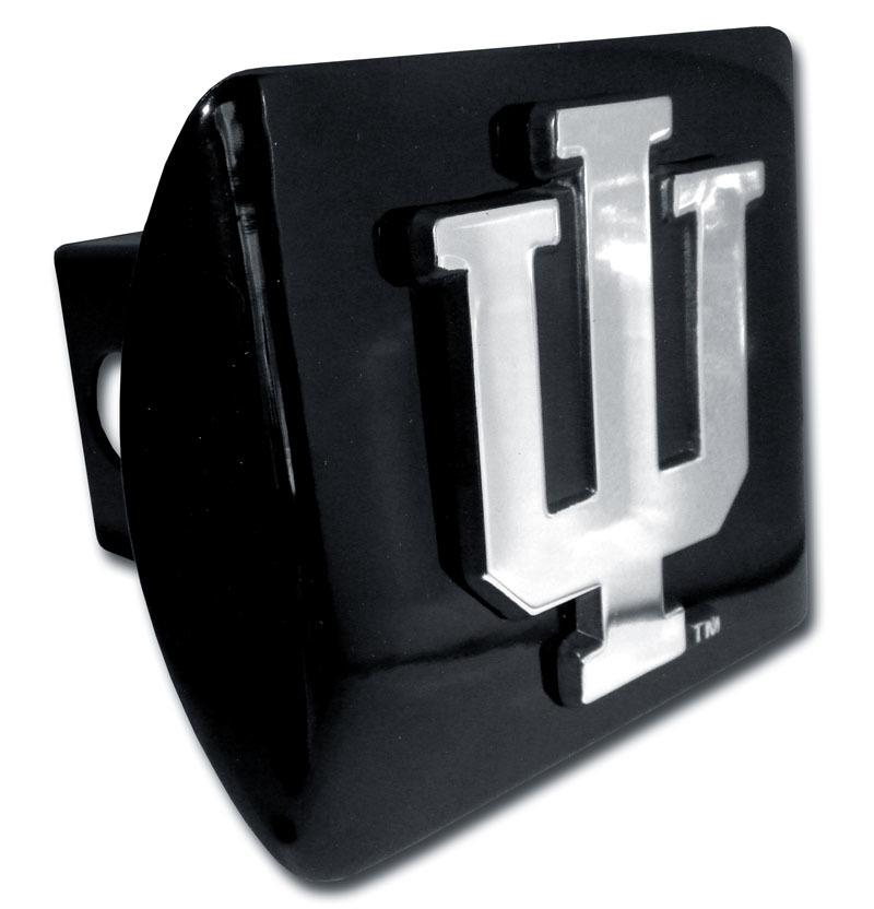 Indiana University Emblem on Black Hitch Cover | Elektroplate