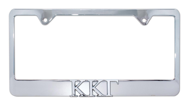 Kappa Kappa Gamma Chrome License Plate Frame Elektroplate