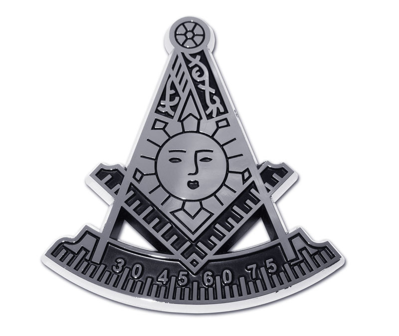 Masonic Past Master Chrome Emblem Elektroplate