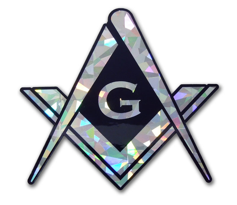 Masonic Reflective Decal Elektroplate