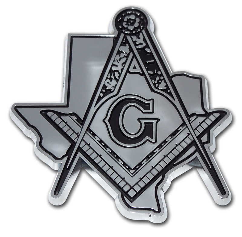 Masonic Texas Chrome Emblem Elektroplate