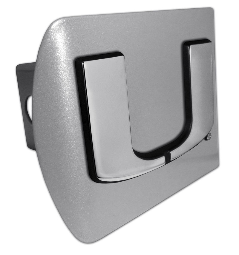 University Of Miami Emblem On Brushed Hitch Cover