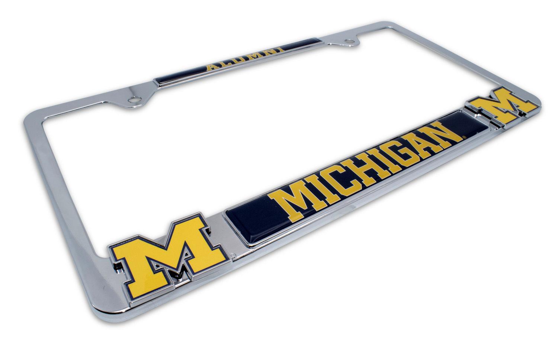 University of Michigan Alumni 3D License Plate Frame   Elektroplate