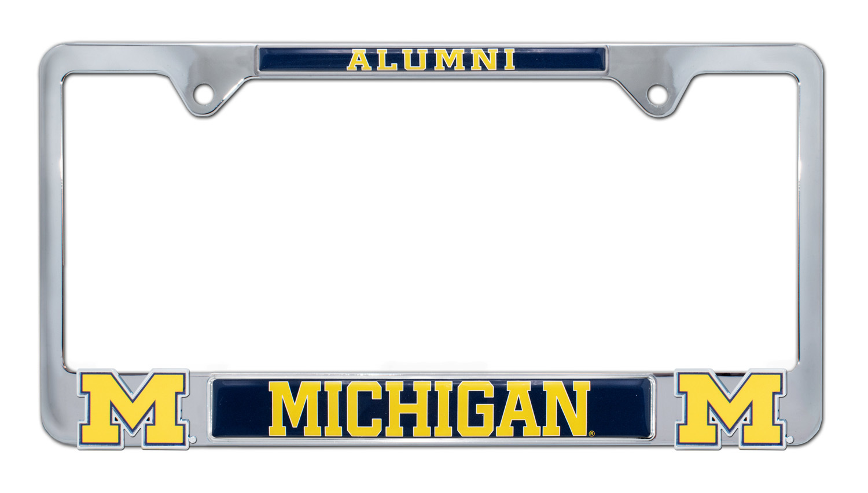 University of Michigan Alumni 3D License Plate Frame | Elektroplate
