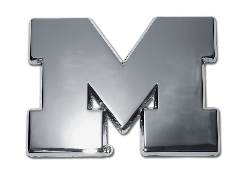University of Michigan Chrome Emblem | Elektroplate