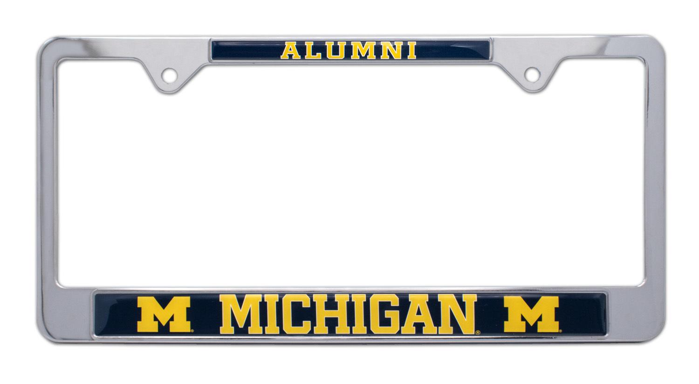 University of Michigan Alumni License Plate Frame   Elektroplate