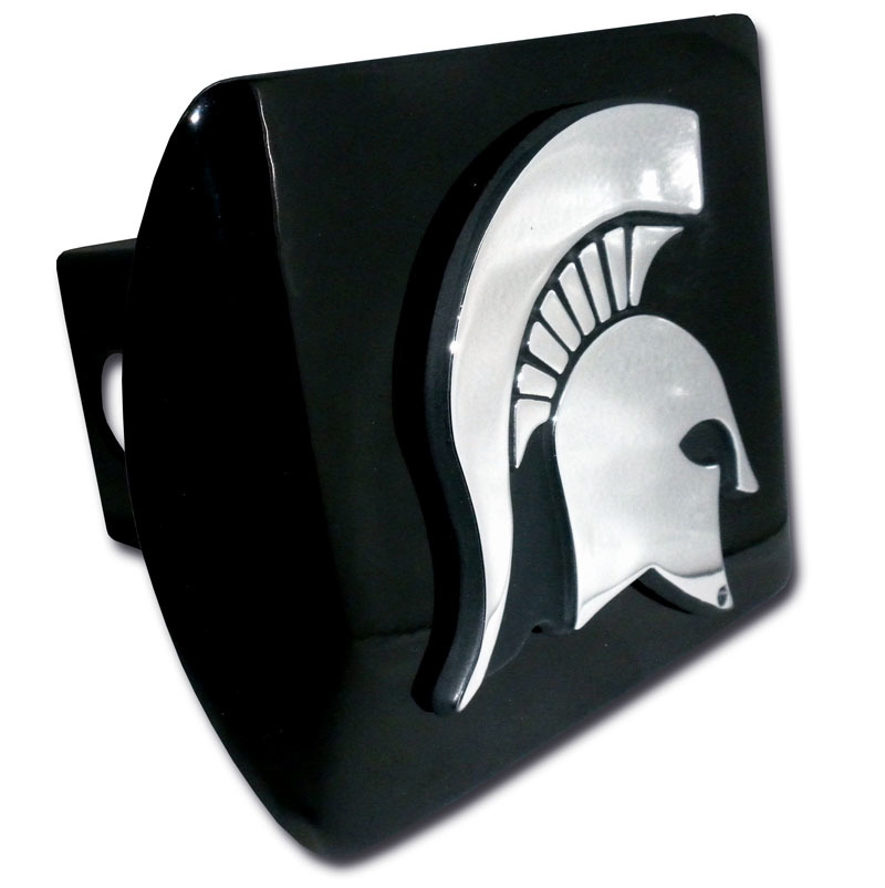 Michigan State Emblem On Black Hitch Cover Elektroplate