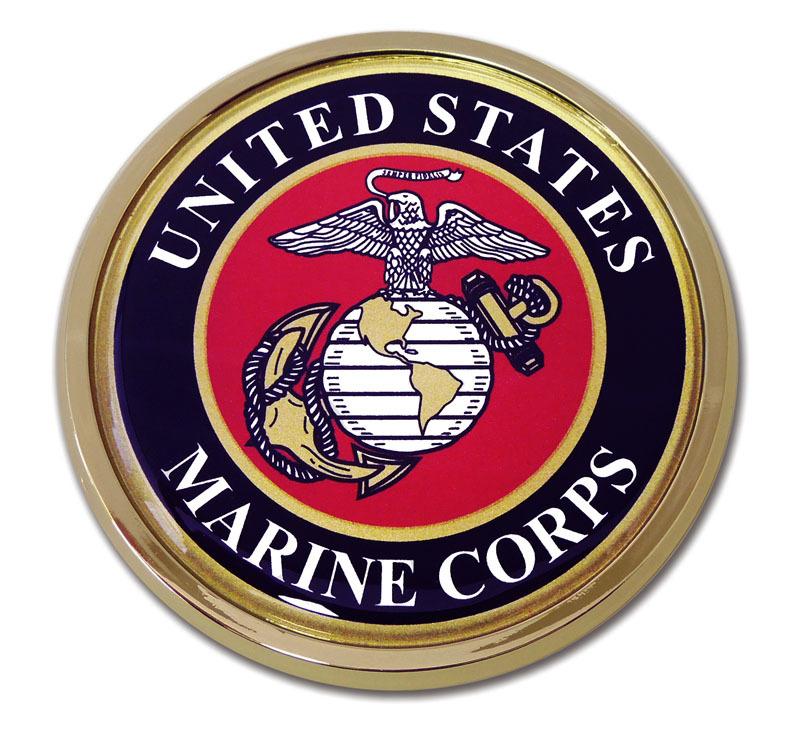 Marines Seal Chrome Emblem Elektroplate