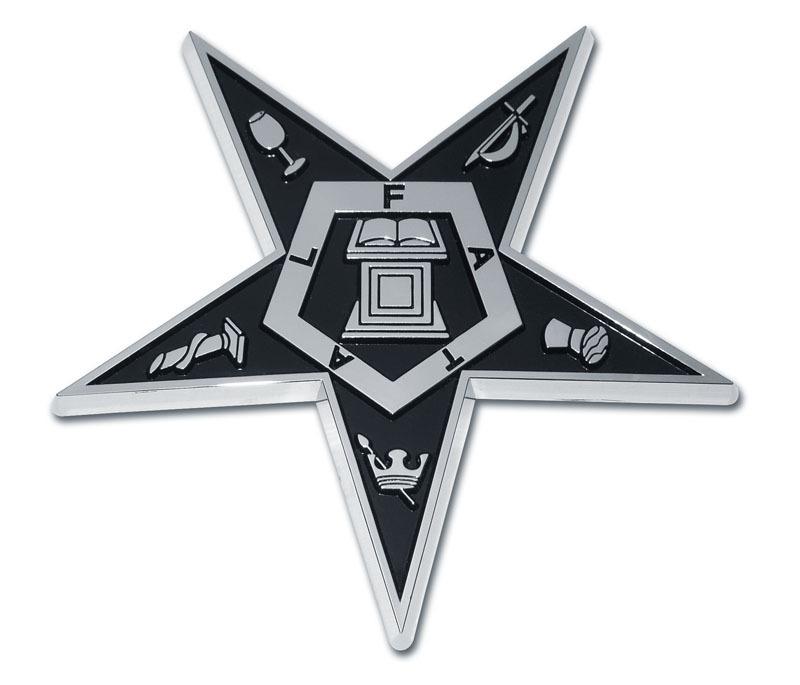 Eastern Star Chrome Emblem Elektroplate