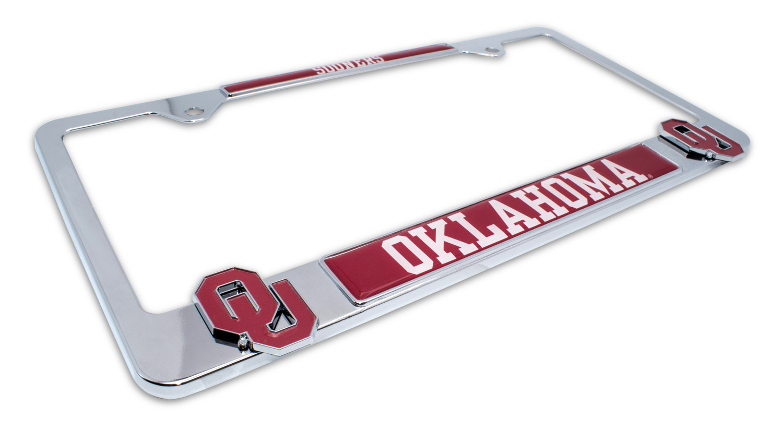 University Of Oklahoma Sooners 3d License Plate Frame