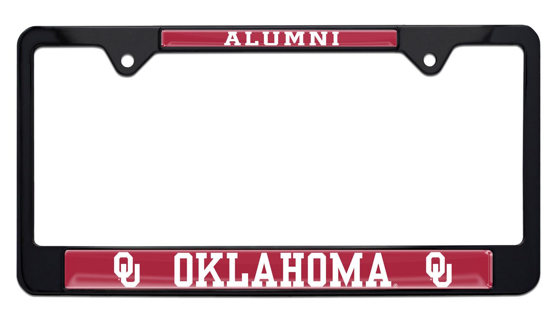 Elektroplate University of Oklahoma Sooners Black License Plate Frame