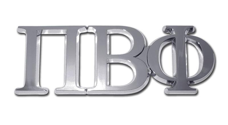 Pi Beta Phi Chrome Emblem Elektroplate
