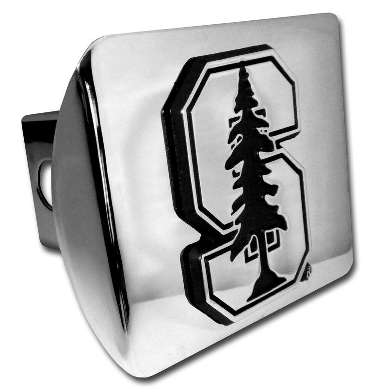 Stanford University Emblem On Chrome Hitch Cover
