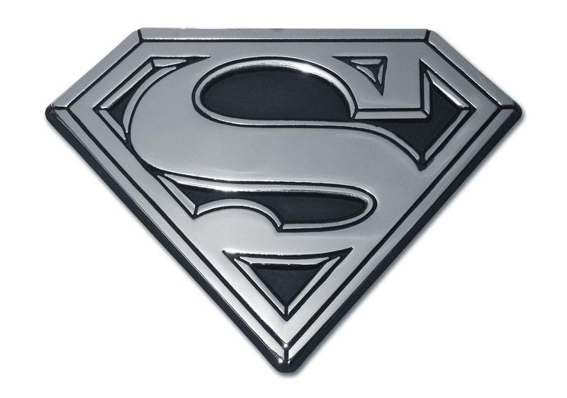 Superman Solid Chrome Emblem Elektroplate