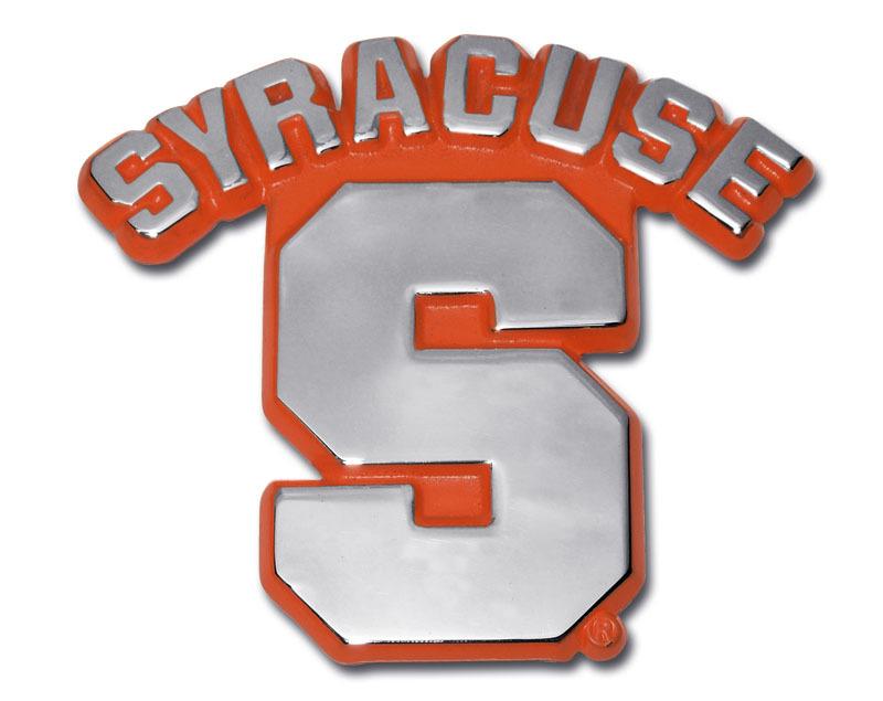 University Of Syracuse Orange Chrome Emblem Elektroplate