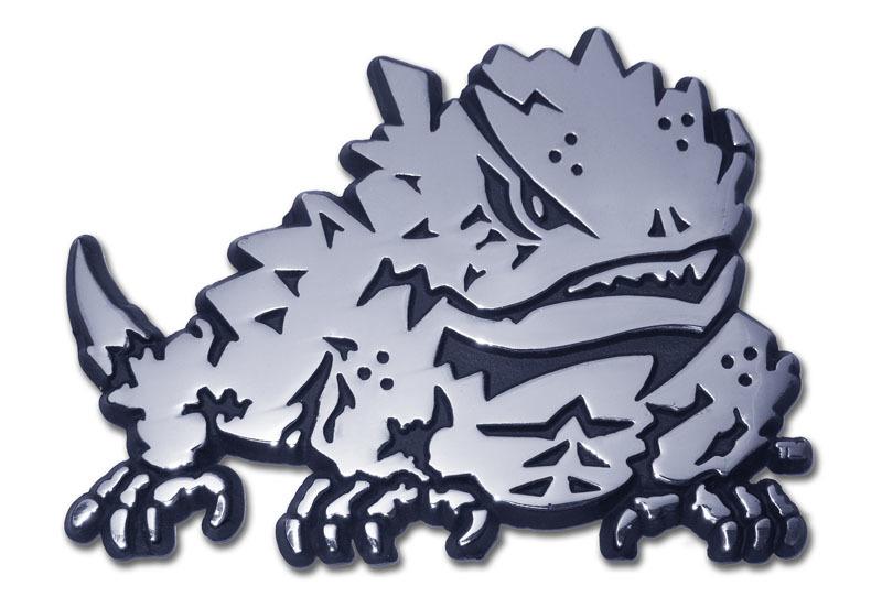 Tcu Horn Frog Chrome Emblem Elektroplate