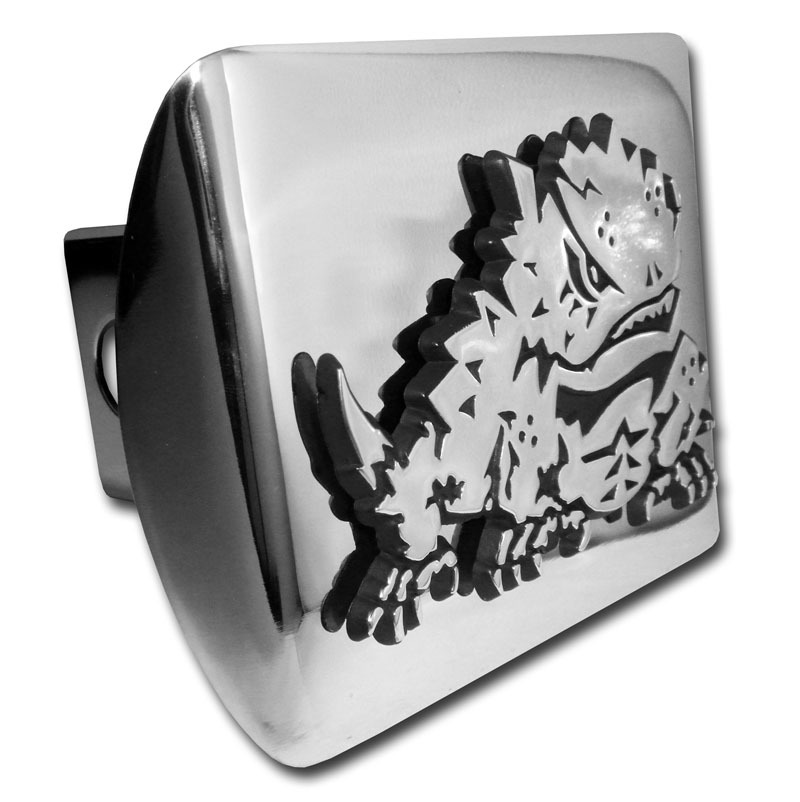 Tcu Horn Frog Emblem On Chrome Hitch Cover Elektroplate