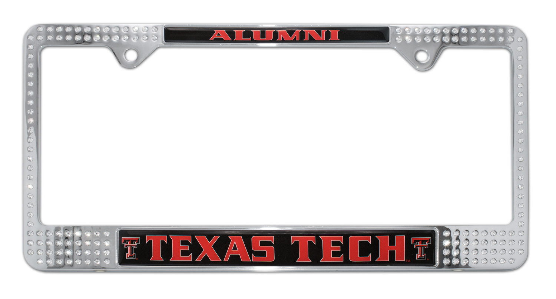 Texas Tech Alumni Crystal License Plate Frame Elektroplate
