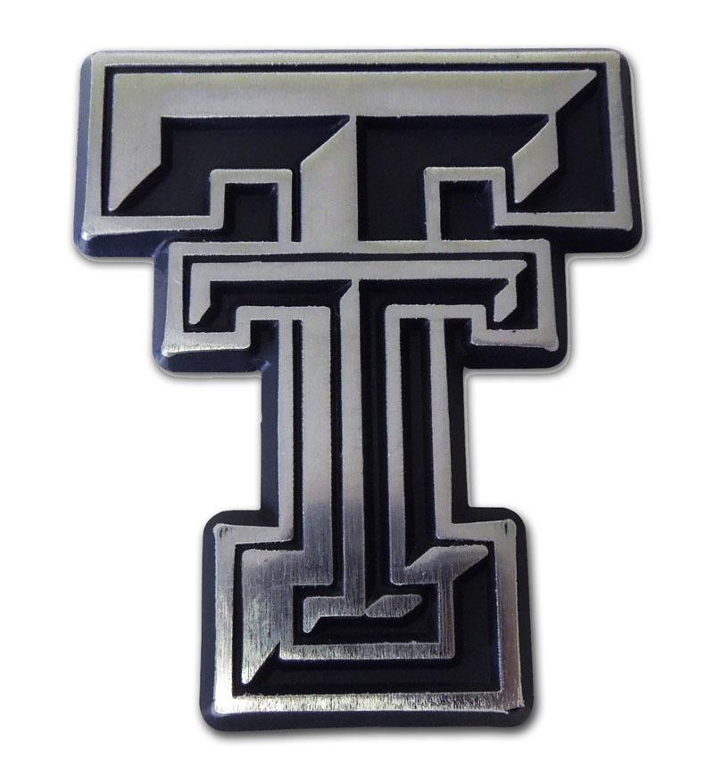 Texas Tech Matte Chrome Emblem Elektroplate