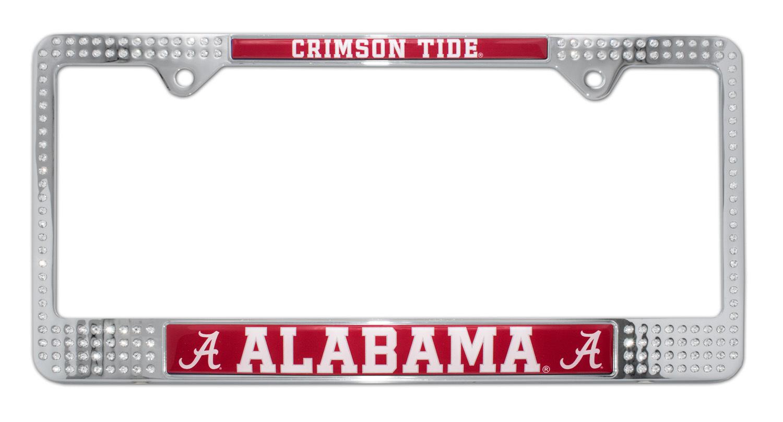 Alabama Crimson Tide Crystal License Plate Frame | Elektroplate