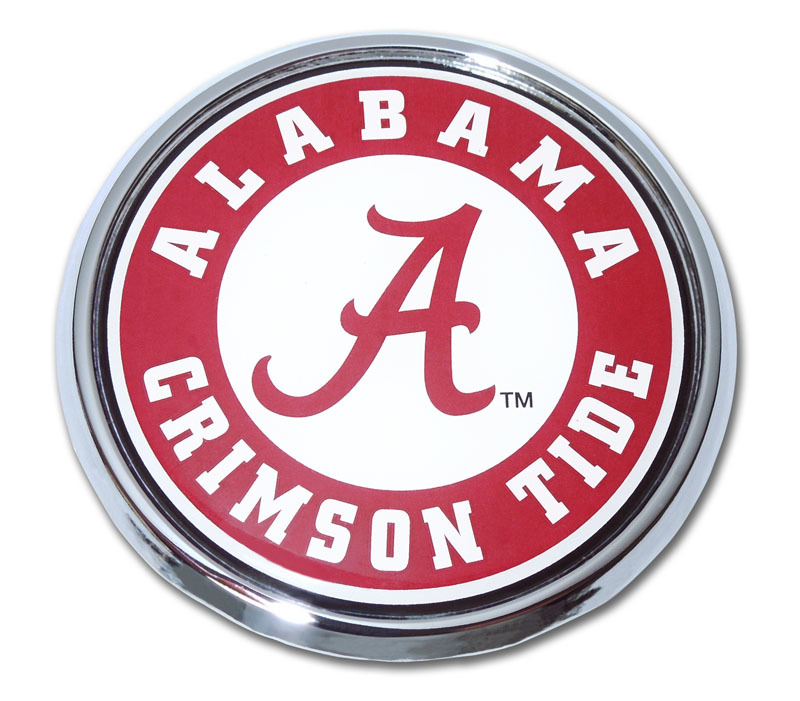 Alabama Crimson Tide Seal Chrome Emblem Elektroplate