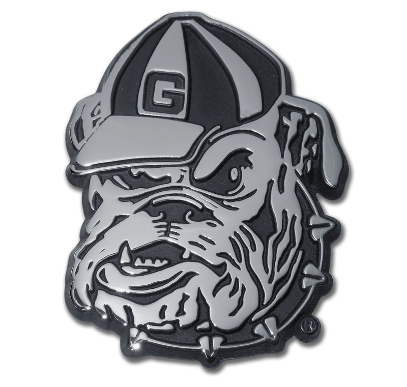 University Of Georgia Bulldog Chrome Emblem Elektroplate