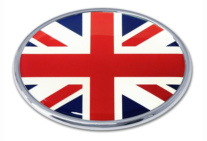 United Kingdom Flag Chrome Emblem Elektroplate