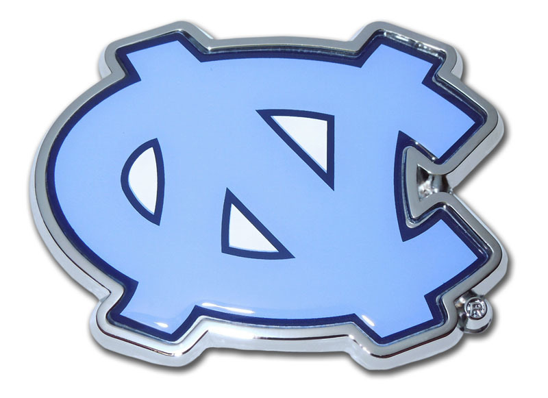 University Of North Carolina Color Chrome Emblem Elektroplate