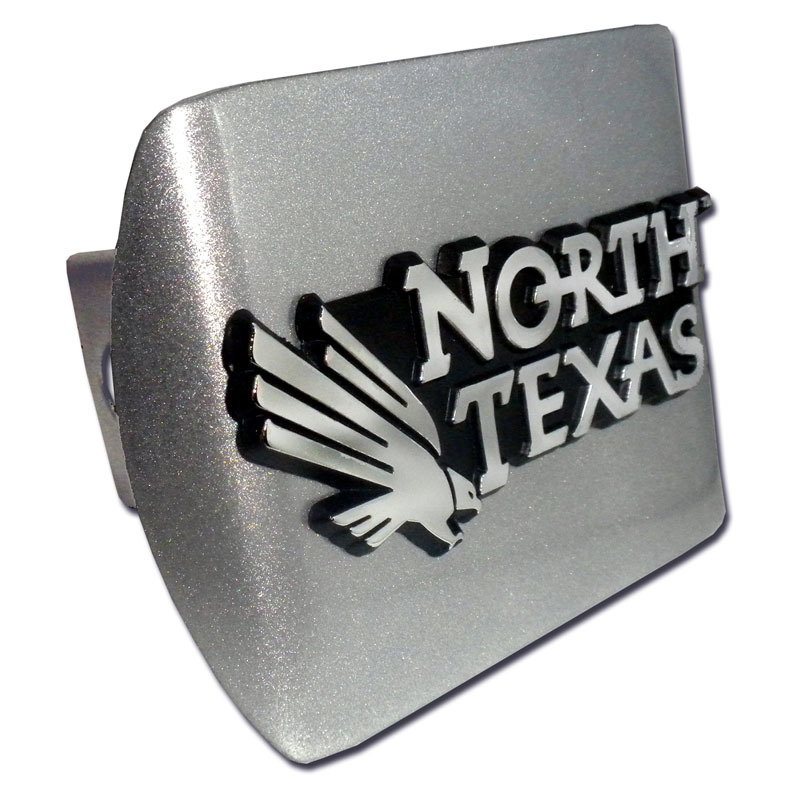 University Of North Texas Emblem On Brushed Hitch Cover