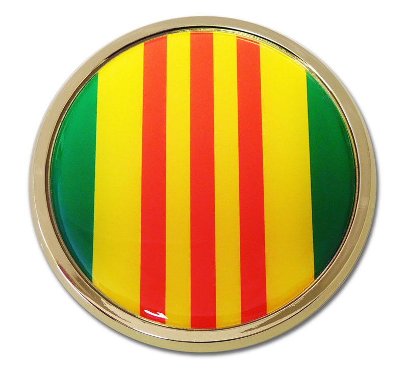 Vietnam Seal Chrome Emblem Elektroplate