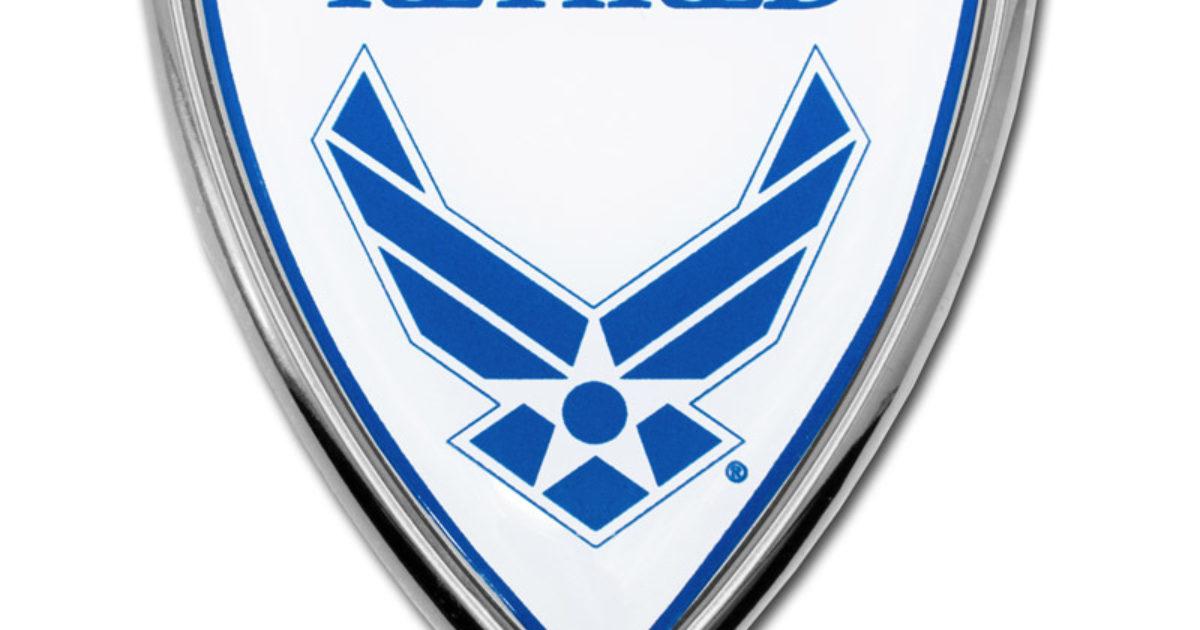Elektroplate U.S Air Force Retired Color Black License Plate Frame
