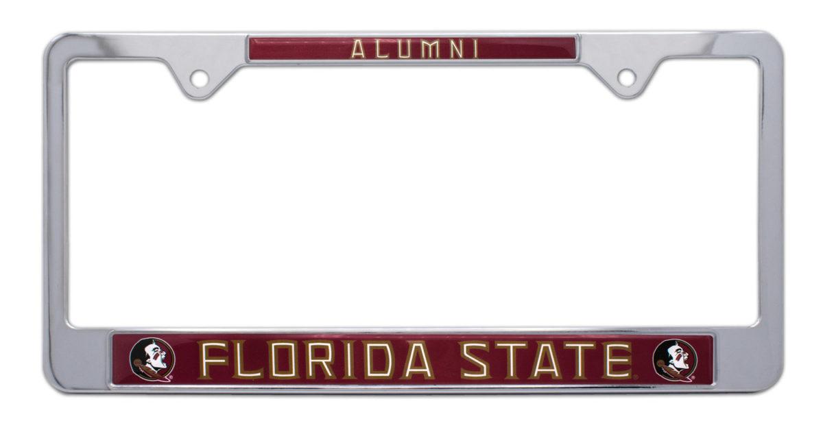 Elektroplate Florida State Alumni Black License Plate Frame