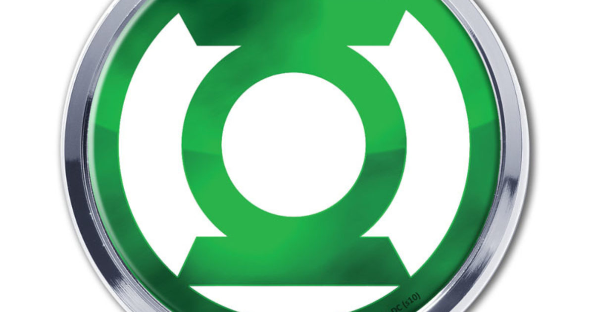 Green Lantern Chrome Emblem | Elektroplate