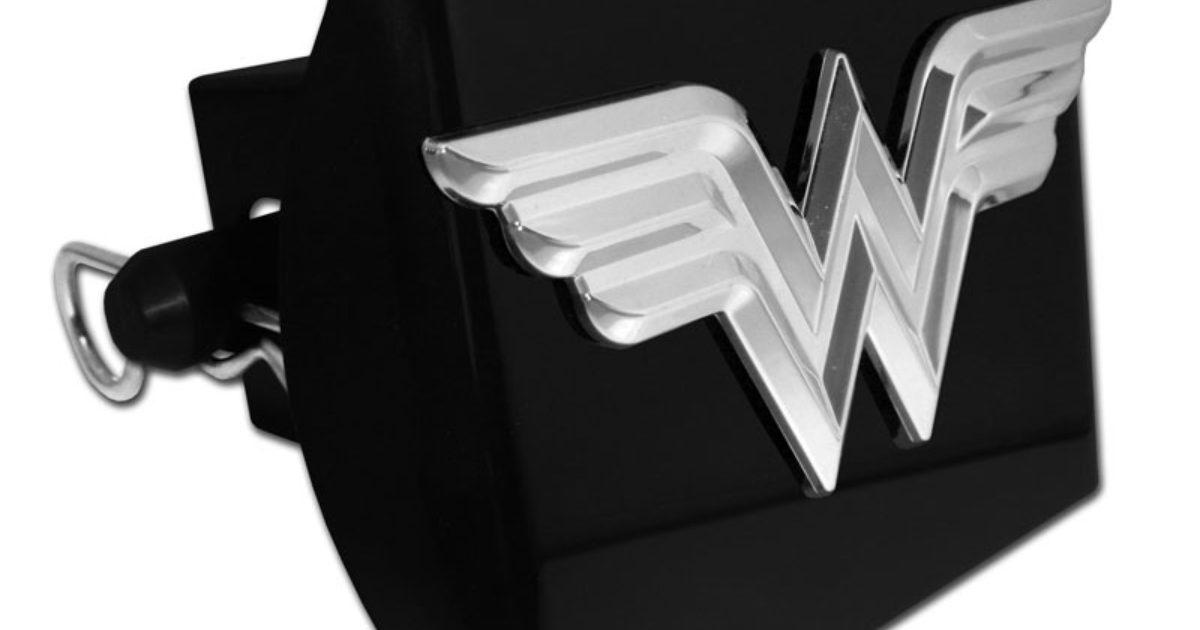 Elektroplate Wonder Woman Black All Metal Hitch Cover
