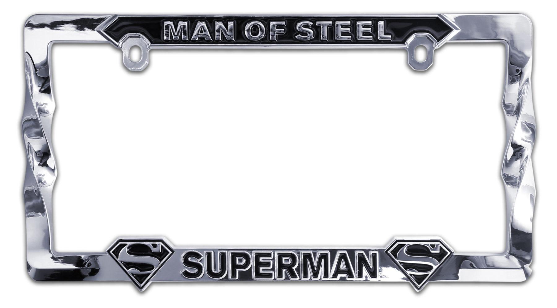 Superman 3D License Plate Frame   Elektroplate