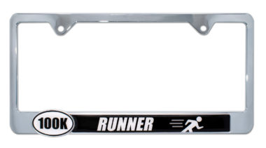 Ultra Marathon 100 k Runner License Plate Frame image