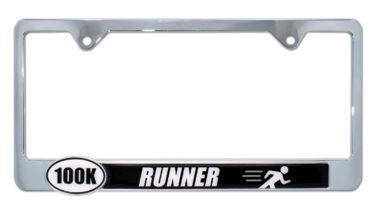 Ultra Marathon 100 k Runner License Plate Frame