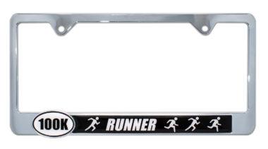 Ultra Marathon 100 k Runners License Plate Frame image