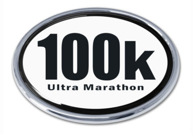 Ultra Marathon 100 k Chrome Emblem